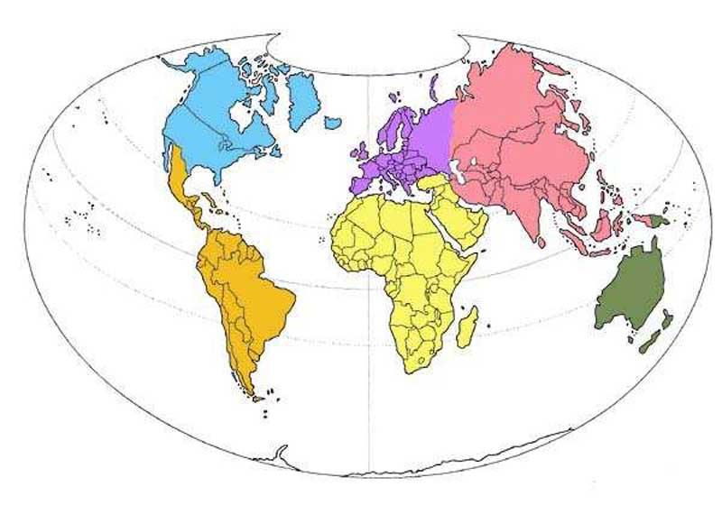 Vous avez cherch carte du monde en couleure par continent - Carte du monde a imprimer gratuite ...