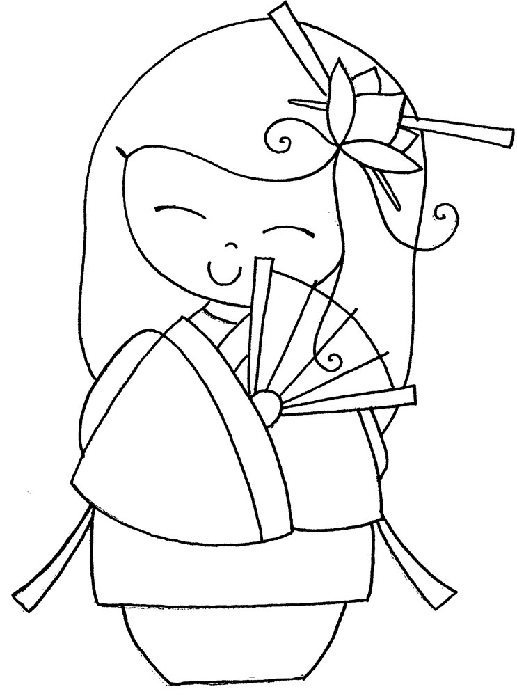 comment dessiner des kokeshi